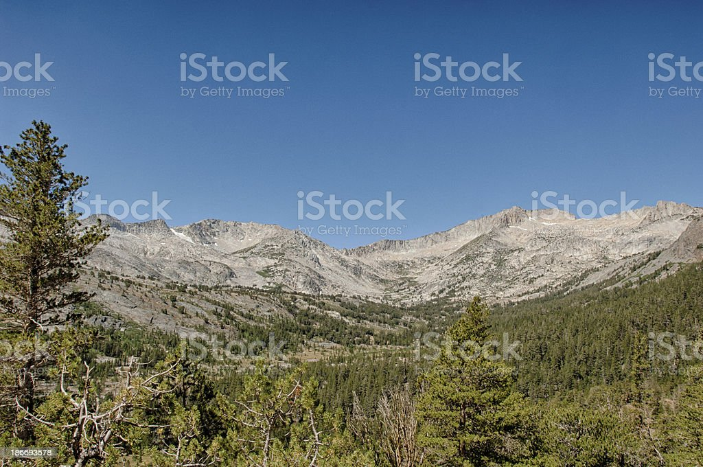 Scenic View of Sierra Nevada Mountain Range royalty-free stock photo