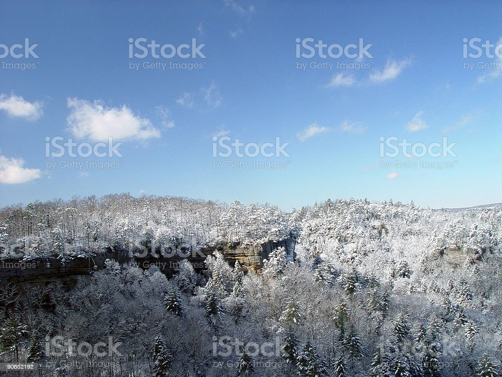 Scenic View of Snowy Mountains royalty-free stock photo
