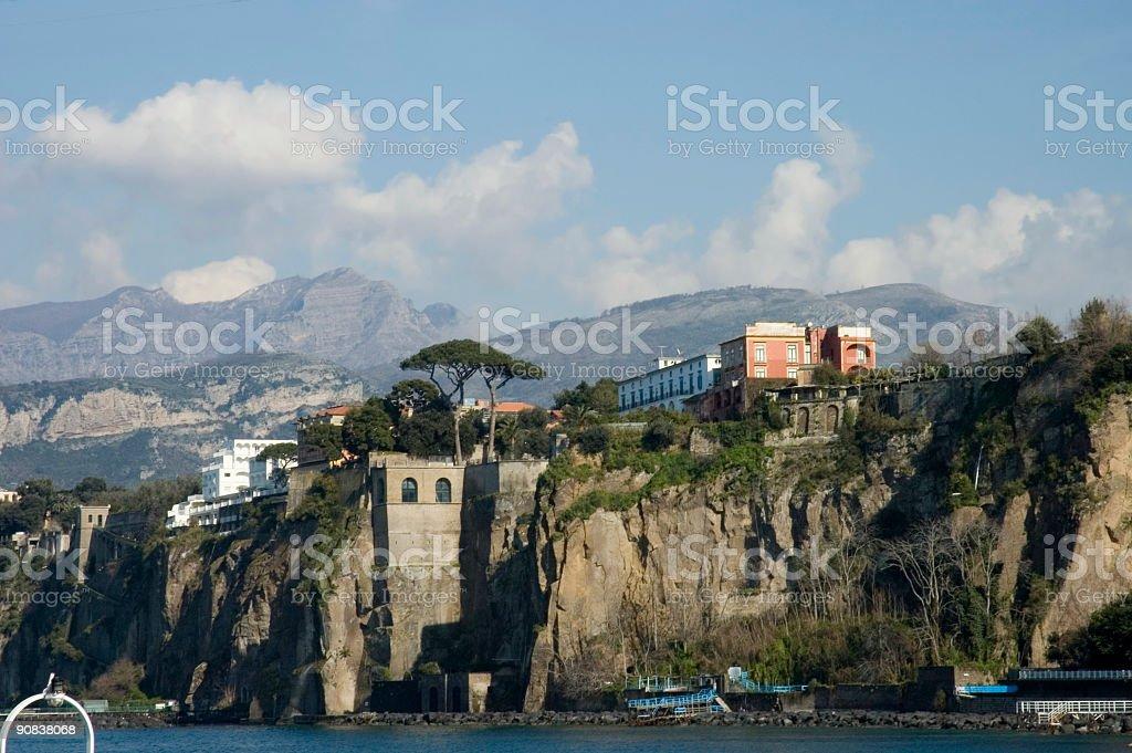 scenic view of Sorrento Peninsula royalty-free stock photo