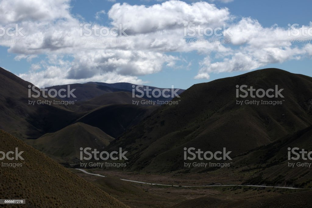 Scenic view of Southern Alps, New Zealand stock photo