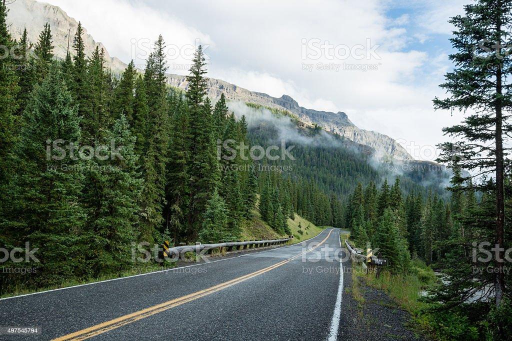 Malerischer Blick auf die Beartooth Highway in Wyoming, Montana, USA Lizenzfreies stock-foto