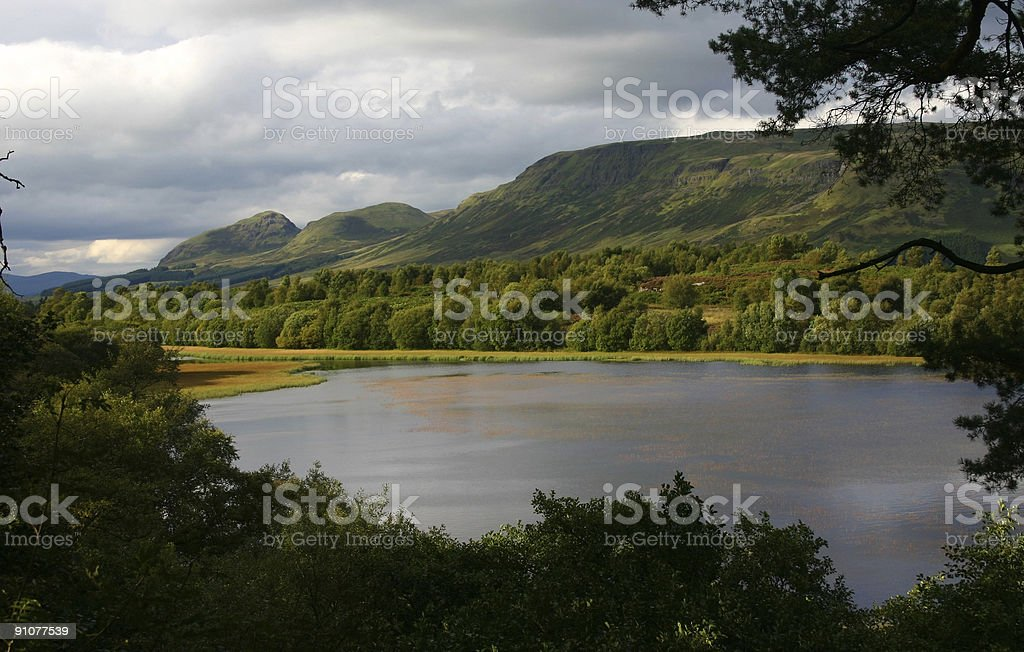 Scenic View of the Campsie Fells royalty-free stock photo
