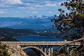 Scenic view of the Donner Memorial Bridge at Donner Pass, California