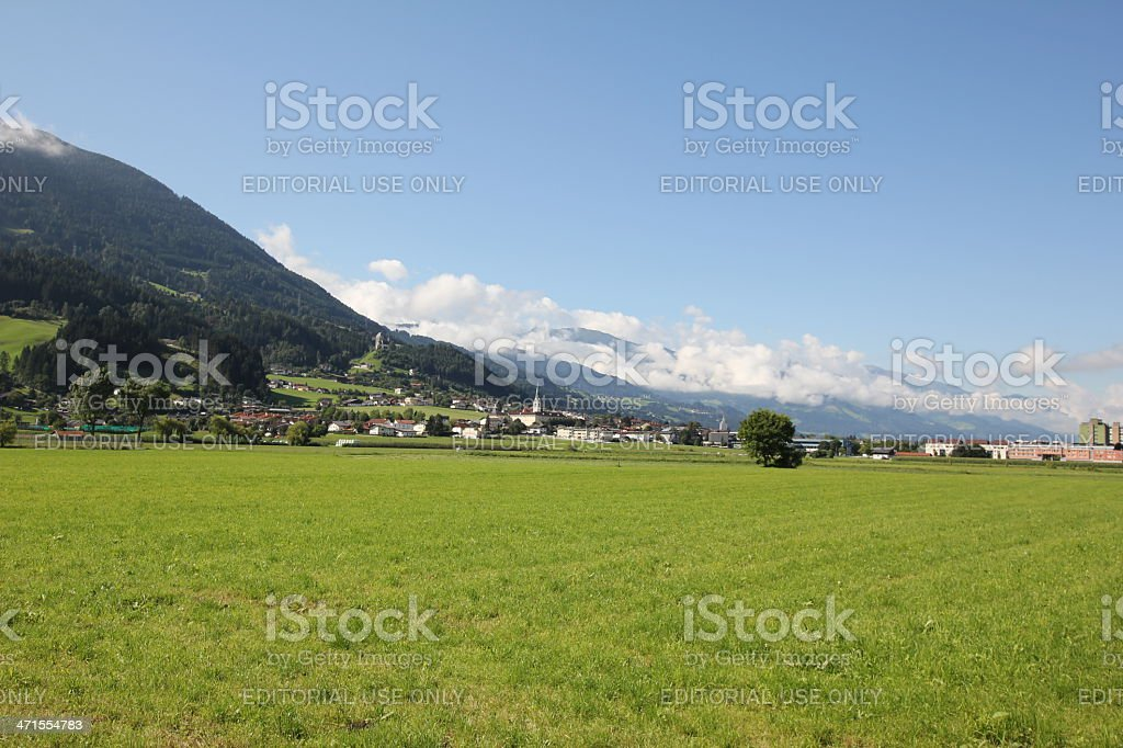 Scenic View of the Inntal close to Schwaz, Tyrol, summer royalty-free stock photo