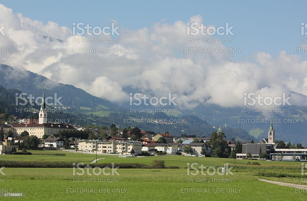 Scenic View of the Inntal in Tyrol during summer season. royalty-free stock photo