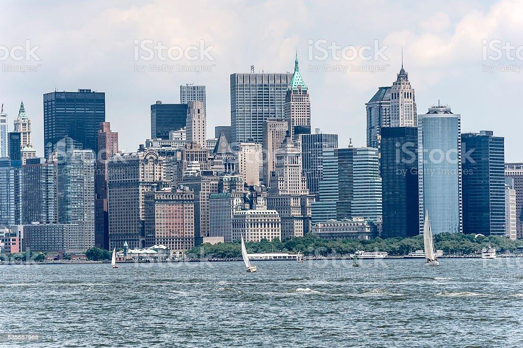 Scenic view of the New York Manhattan. stock photo