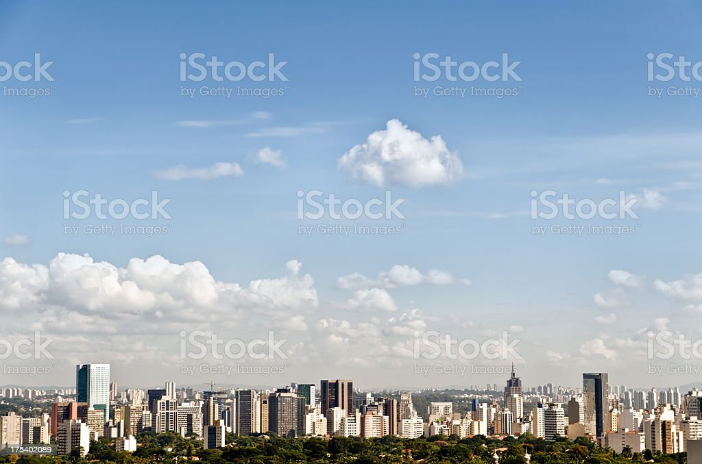 Scenic view of the Paolo skyline stock photo
