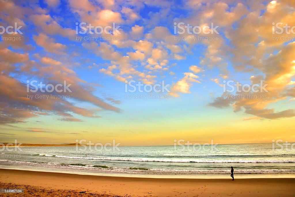 Scenic view of the sunshine coast in Australia stock photo