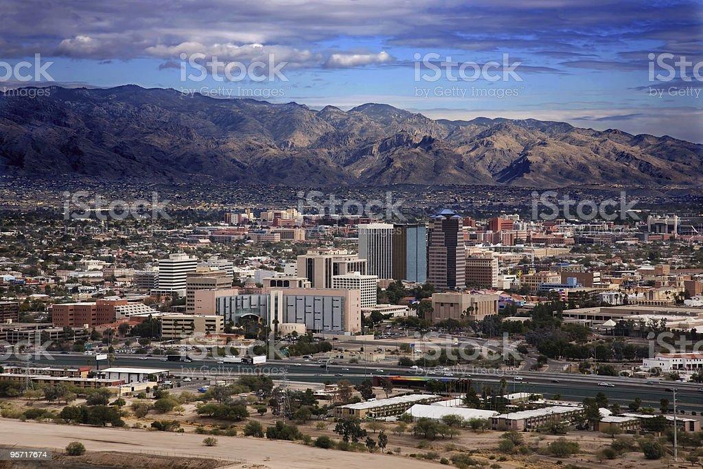 Scenic view of Tucson Arizona with mountains stock photo