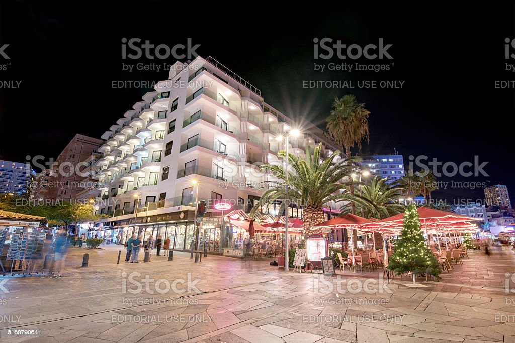 Scenic view of turistic boulevard in Puerto de la Cruz stock photo