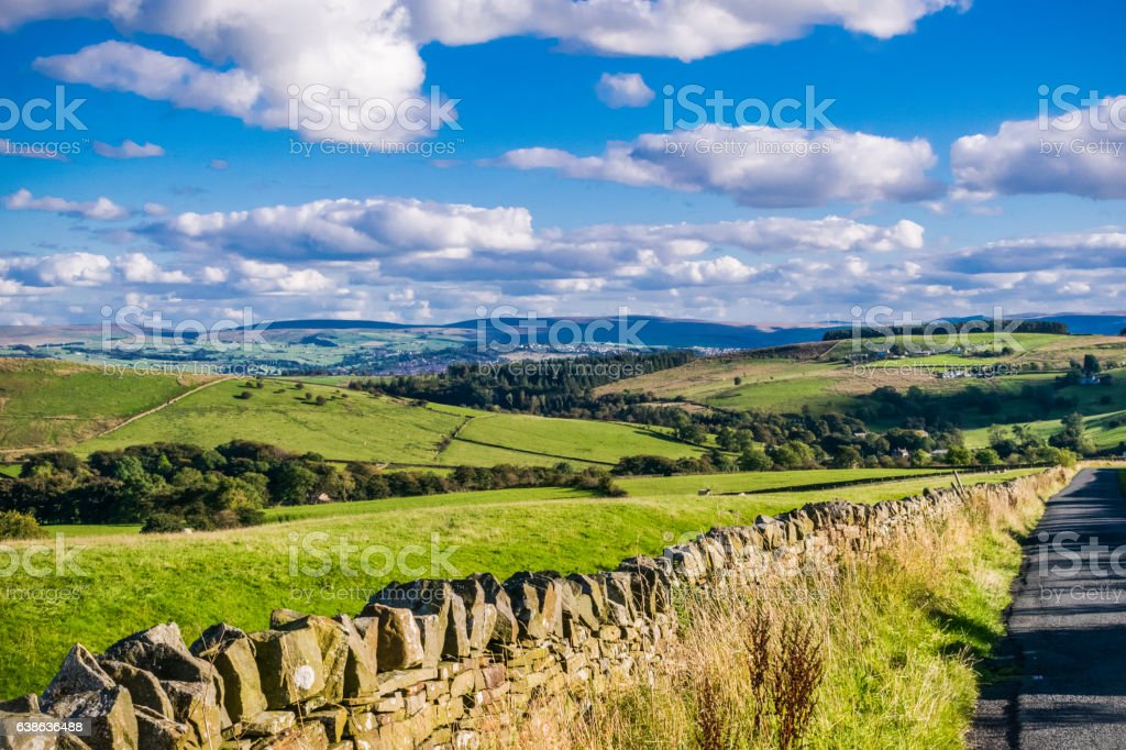 Scenic View On Lancashire Hills stock photo