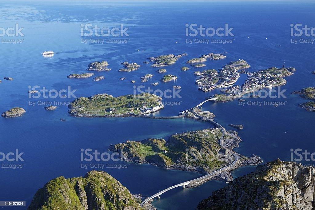 Scenic view on Lofoten royalty-free stock photo