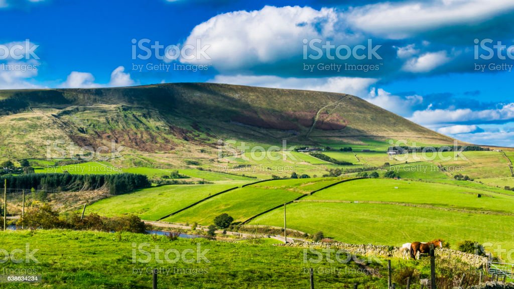 Scenic view on Pendle Hill stock photo