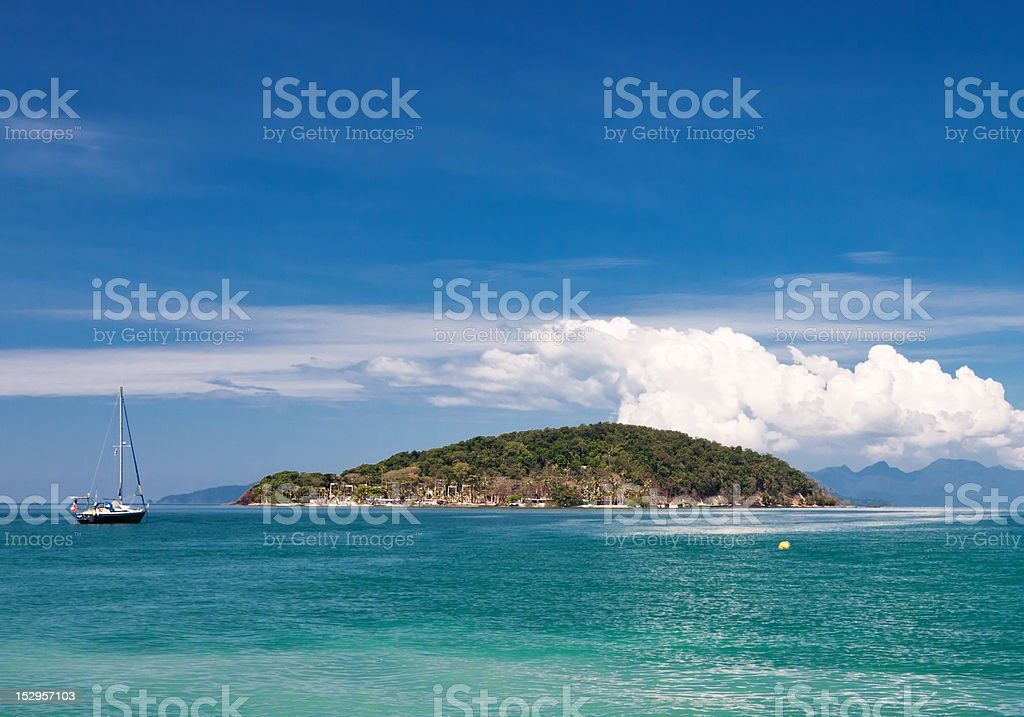 Scenic view on small tropical island. Thailand. stock photo