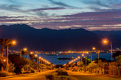 Scenic view on the Red Sea from Eilat, Israel