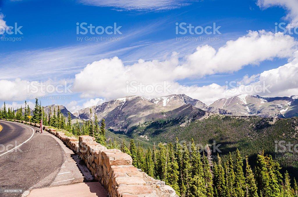 scenic view on the trail ridge road, colorado stock photo