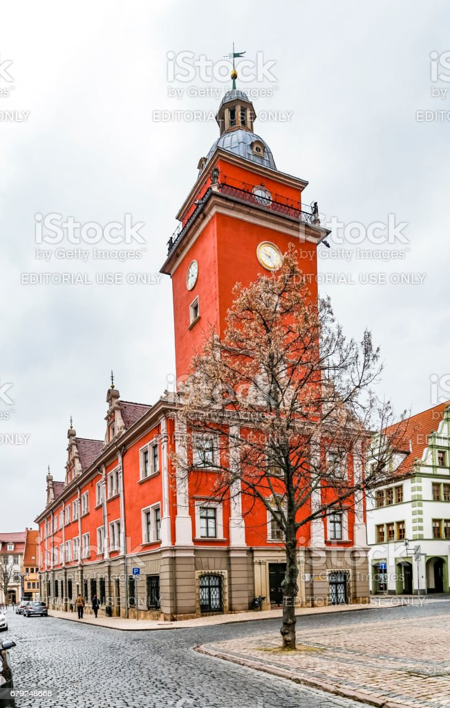 scenic view to old hall of Gotha in Thuringia stock photo
