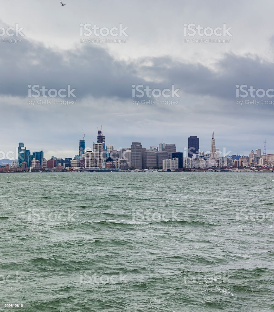 Scenic view to San Francisco Downtown stock photo