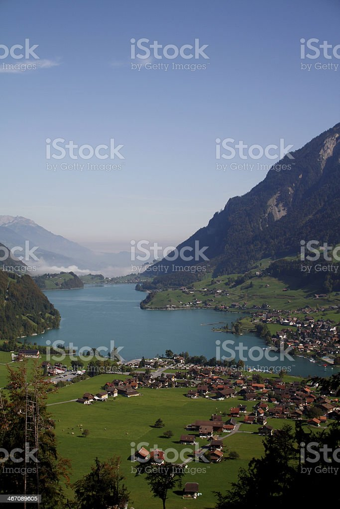 Scenic village in the Alps royalty-free stock photo