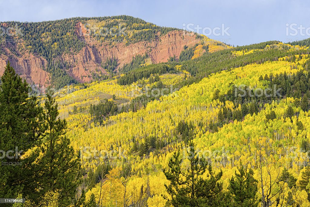 Scenic Vista Fall Colors Mountains royalty-free stock photo