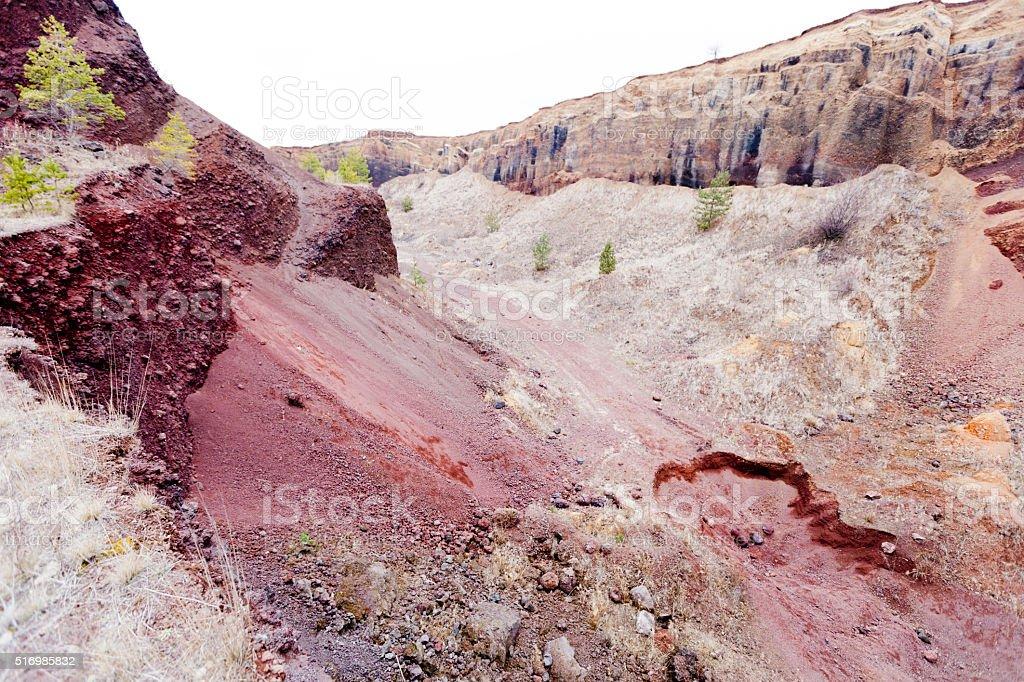 Scenic volcanic rock background stock photo