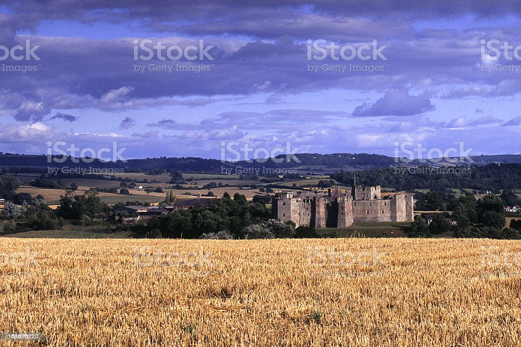 Scenic Wales - Raglan Castle stock photo