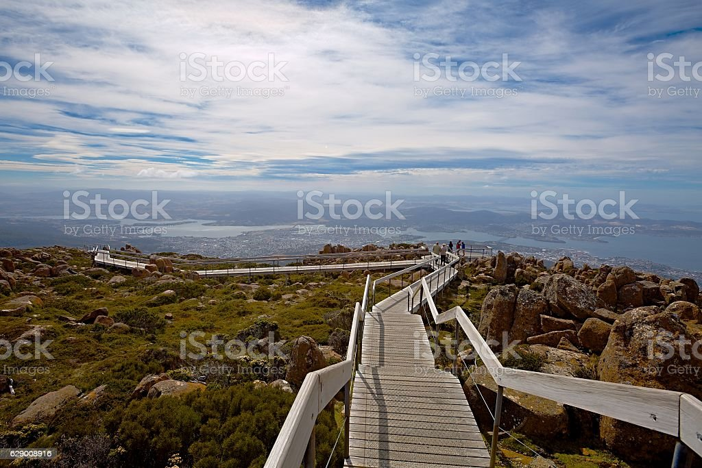 Scenic walk Mount Wellington, Tasmania stock photo