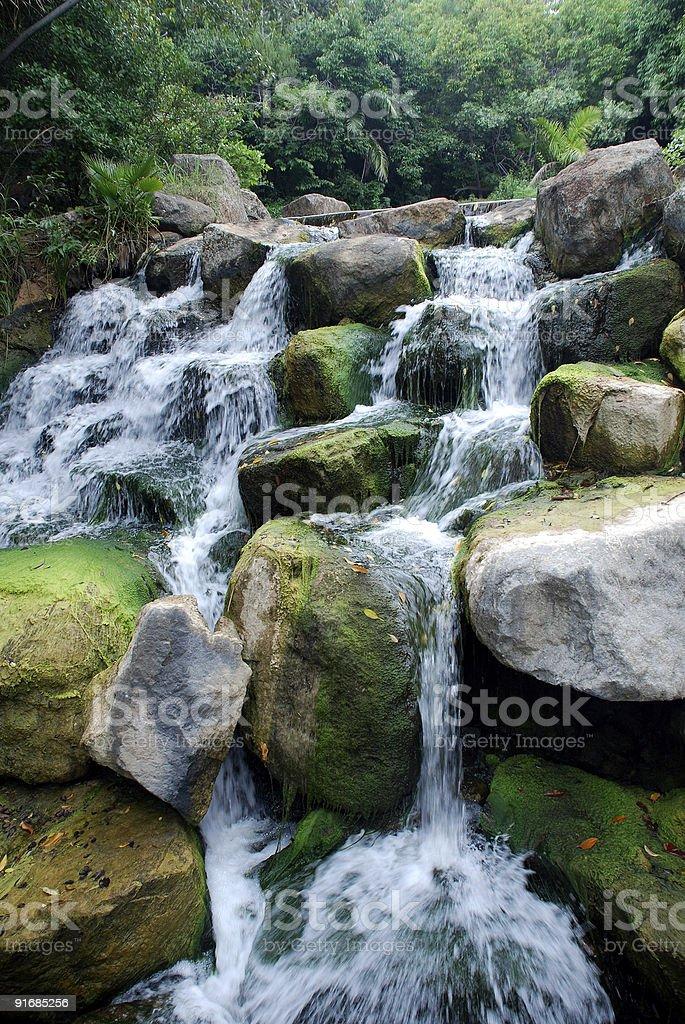 scenic waterfall royalty-free stock photo