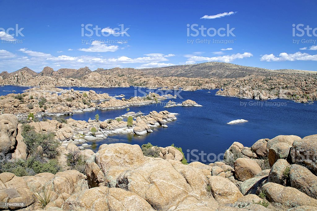 Scenic Watson Lake Prescott Arizona stock photo