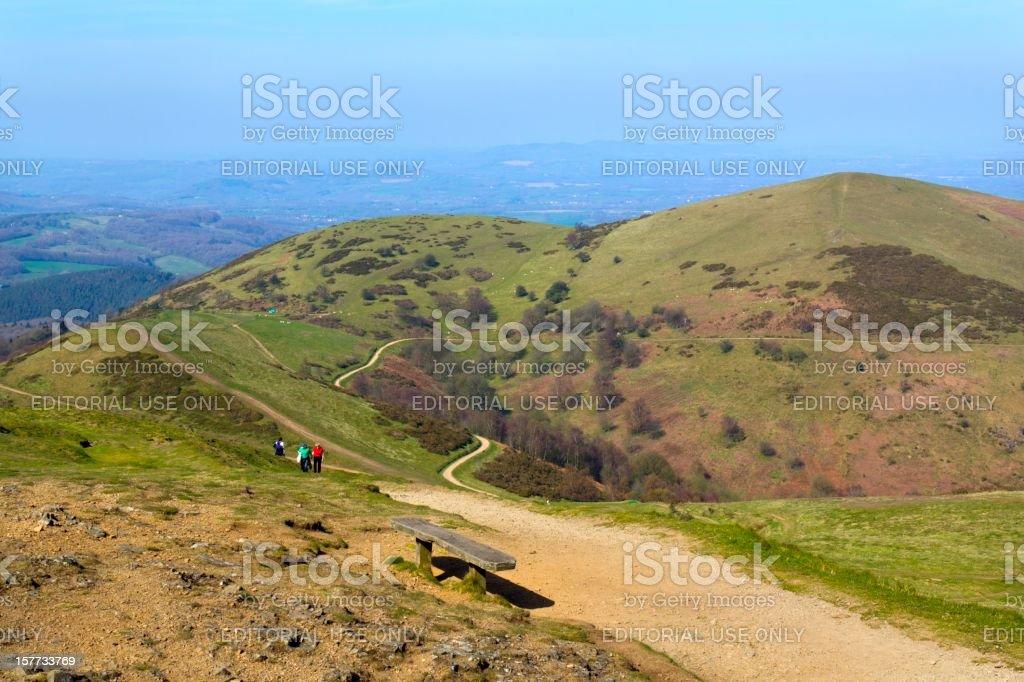 Scenic Worcestershire - The Malvern Hills stock photo