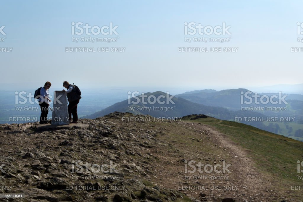 Scenic Worcestershire - The Malvern Hills stock photo