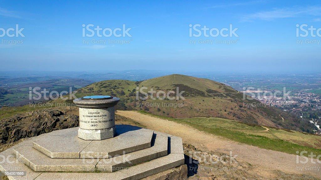 Scenic Worcestershire, The Malvern Hills stock photo