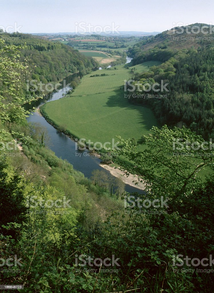 Scenic Wye Valley - Symonds Yat stock photo
