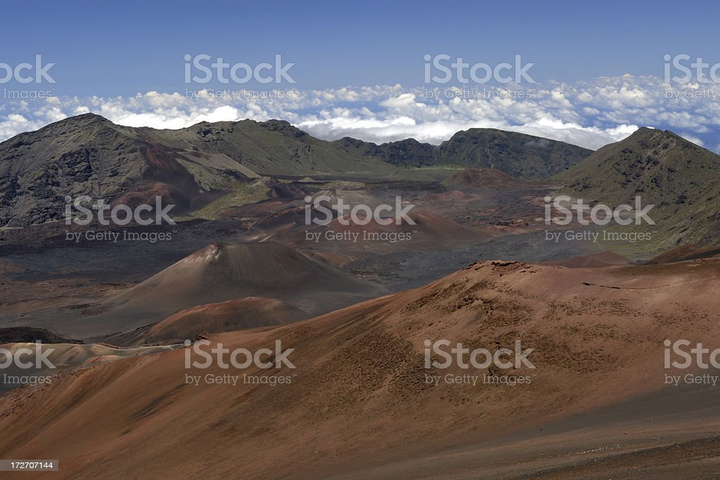 Scenics at Haleakala National Park royalty-free stock photo