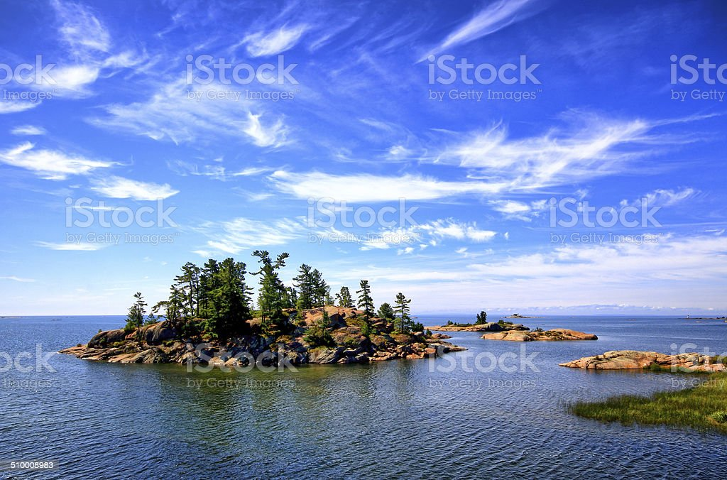 Scenics in Killarney Provincial Park stock photo