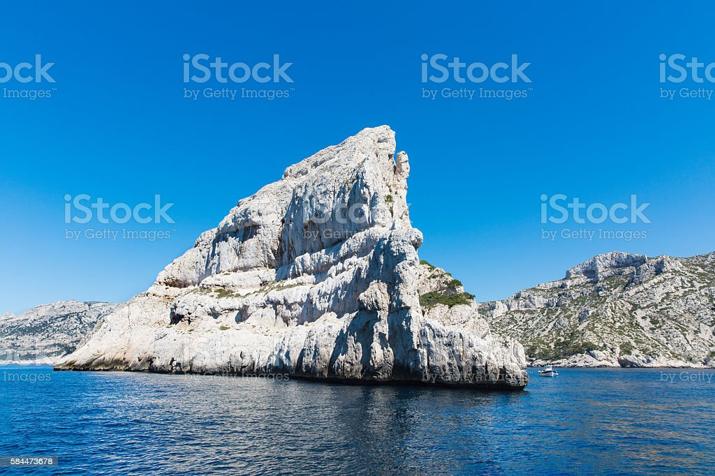 scenics of Frioul archipelago in marseille,France. stock photo