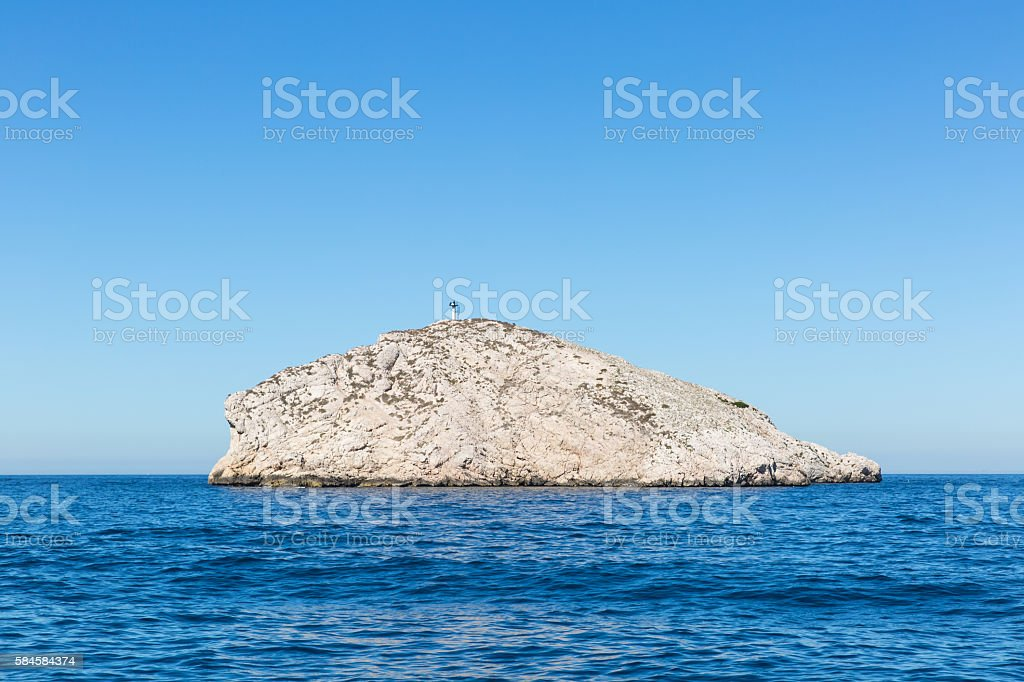 scenics of Frioul archipelago stock photo