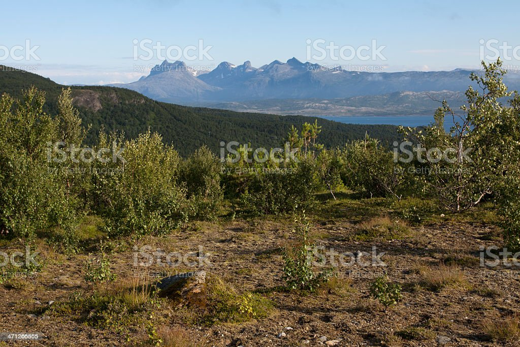 Scenics of Nordland County stock photo