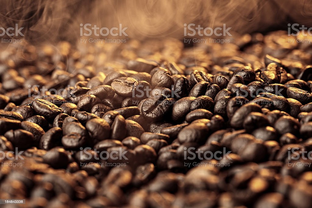 Scent of the coffee stock photo