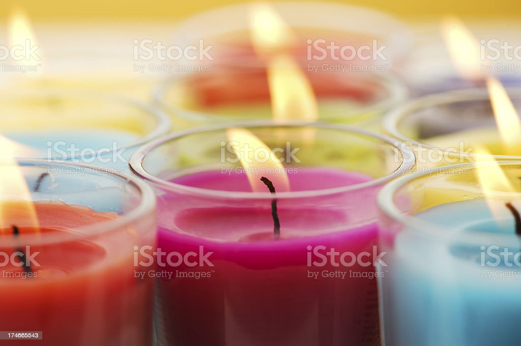 Scented candles royalty-free stock photo