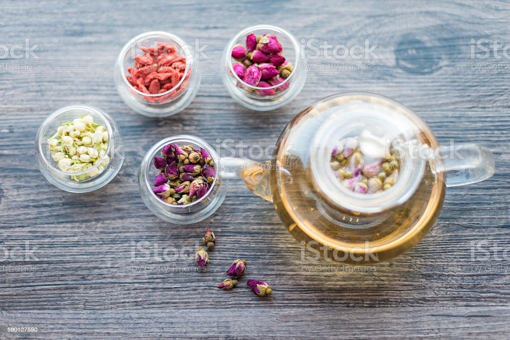 Scented tea stock photo