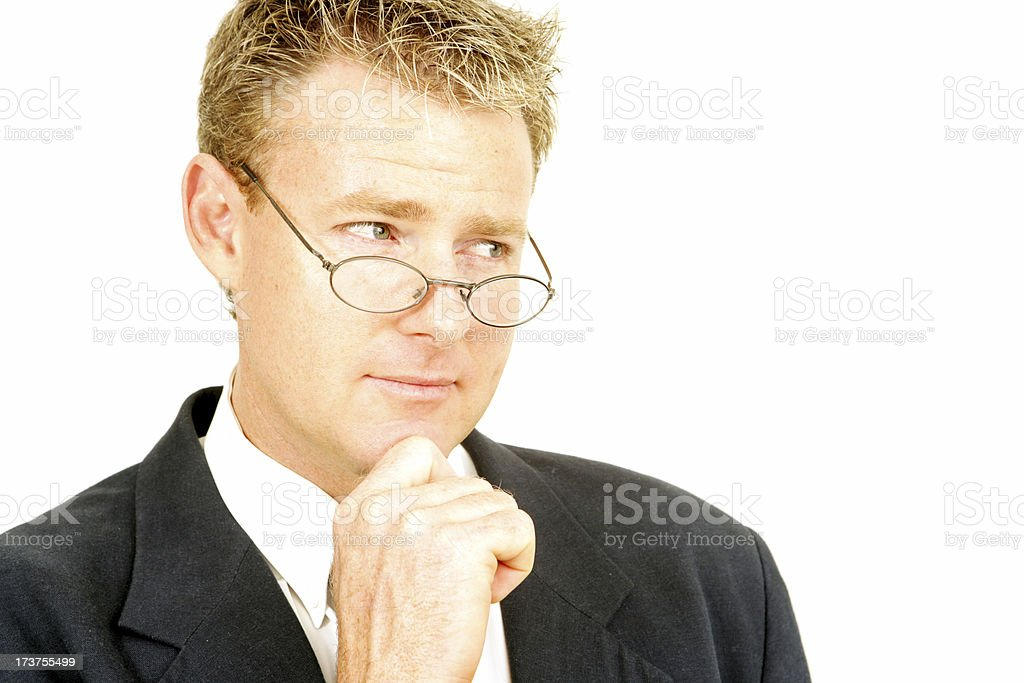 Sceptical Business royalty-free stock photo