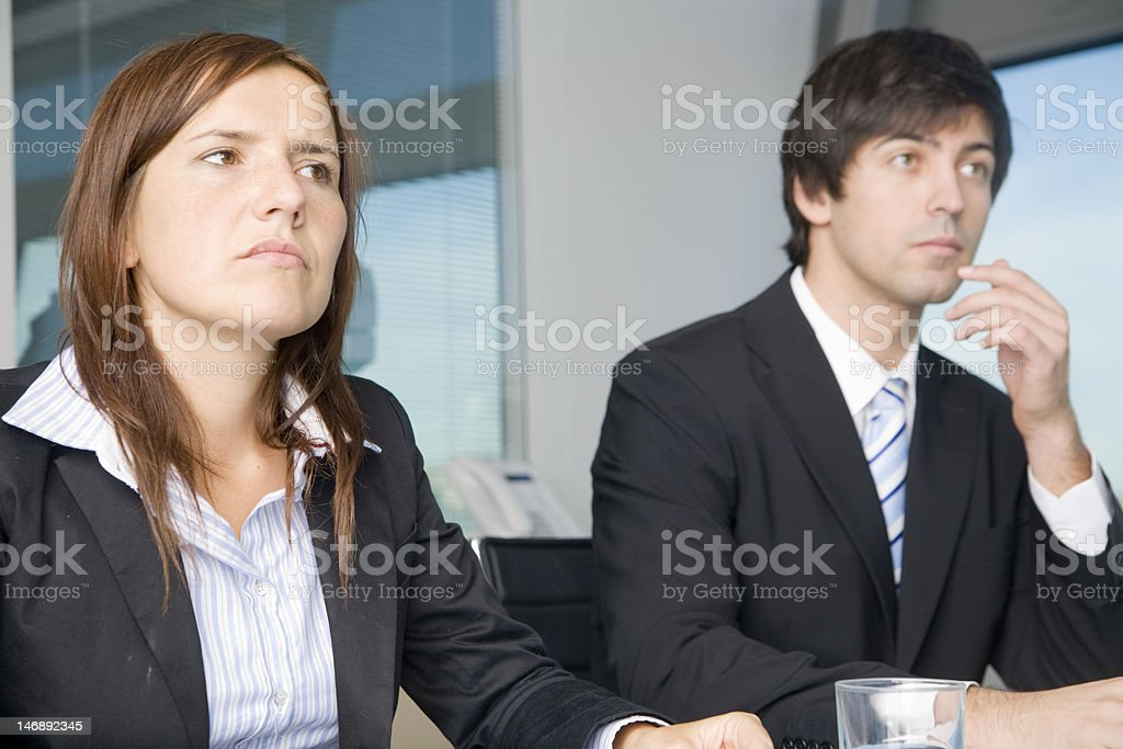 Sceptical in Office stock photo