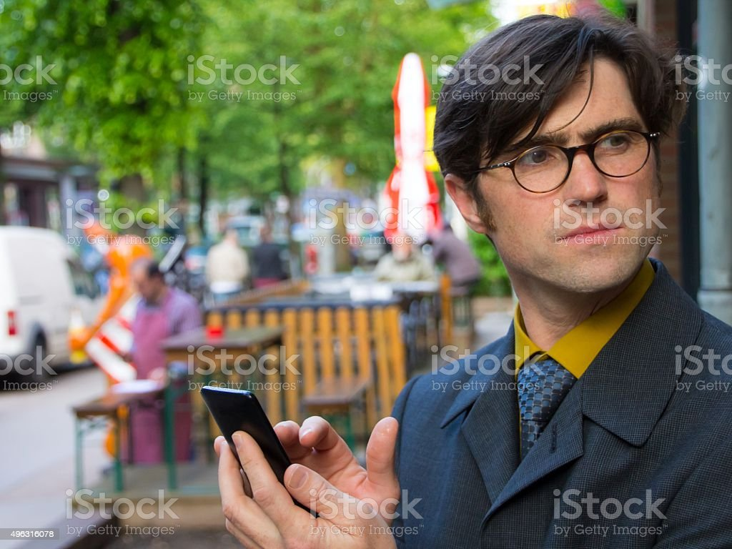 sceptical pause stock photo