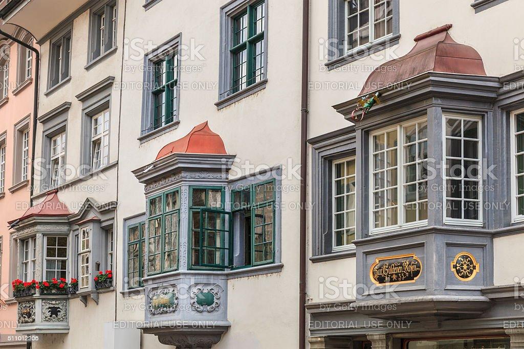 Schaffhausen, Bay Windows - Switzerland stock photo