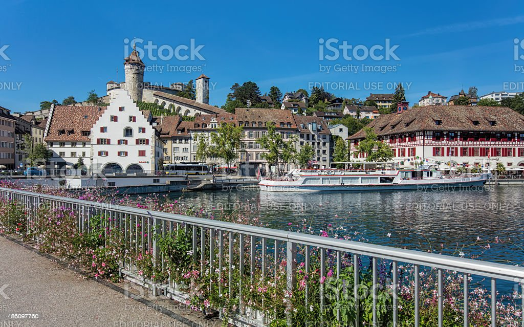 Schaffhausen cityscape stock photo