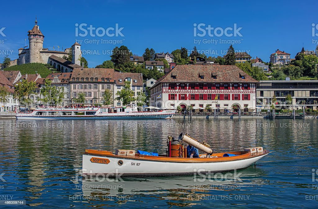 Schaffhausen, the Rhine river stock photo