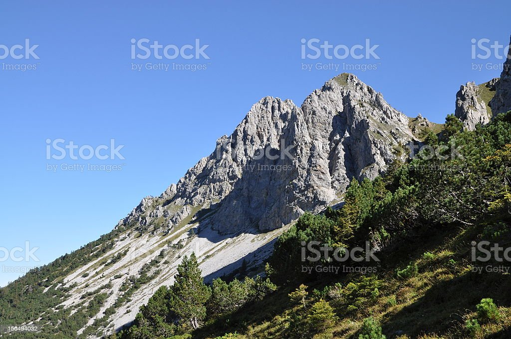 Schafnase, a mountain in Switzerland royalty-free stock photo