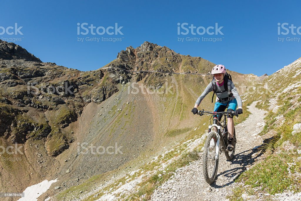 Schaftäli Single Trail Biking, Switzerland stock photo