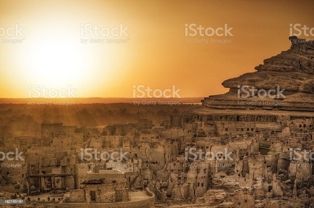 Schali ( Shali ) the old Town of Siwa stock photo